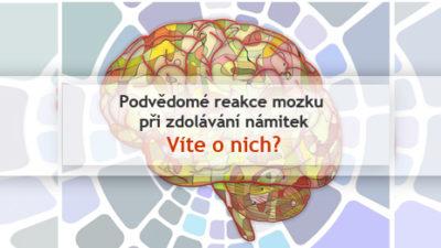 podvedome reakce mozku pro zdolavani namitek